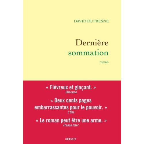 Dernière sommation (David Dufresne)