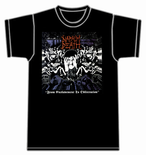 Tshirt Napalm Death - From enslavement...