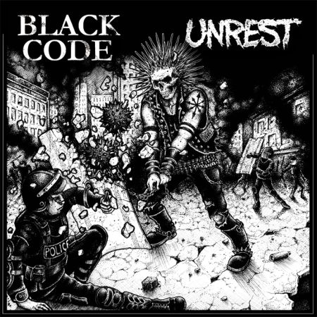 Split Black Code / Unrest (LP)