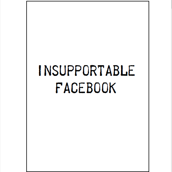 Insupportable Facebook (brochure)