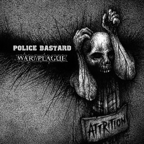 Police Bastard / War//Plague - split LP