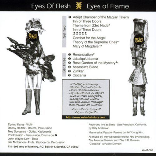 Secret Chiefs 3 - Eyes of Flesh, Eyes of Flame