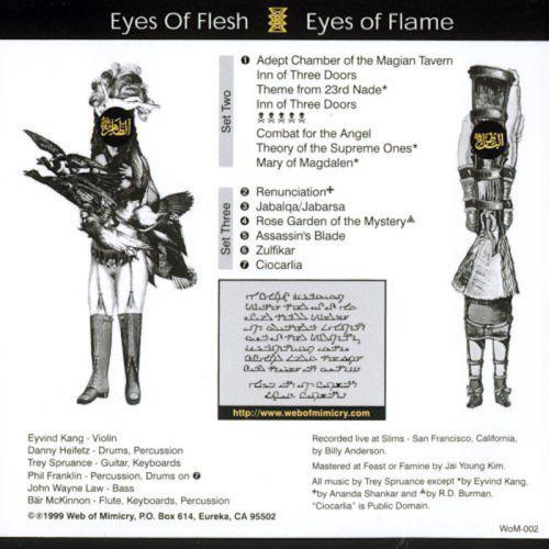 Secret Chiefs 3 - Eyes of Flesh, Eyes of Flame